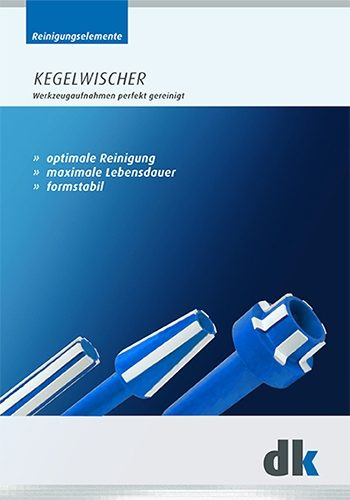 Brochure with cleaning elements